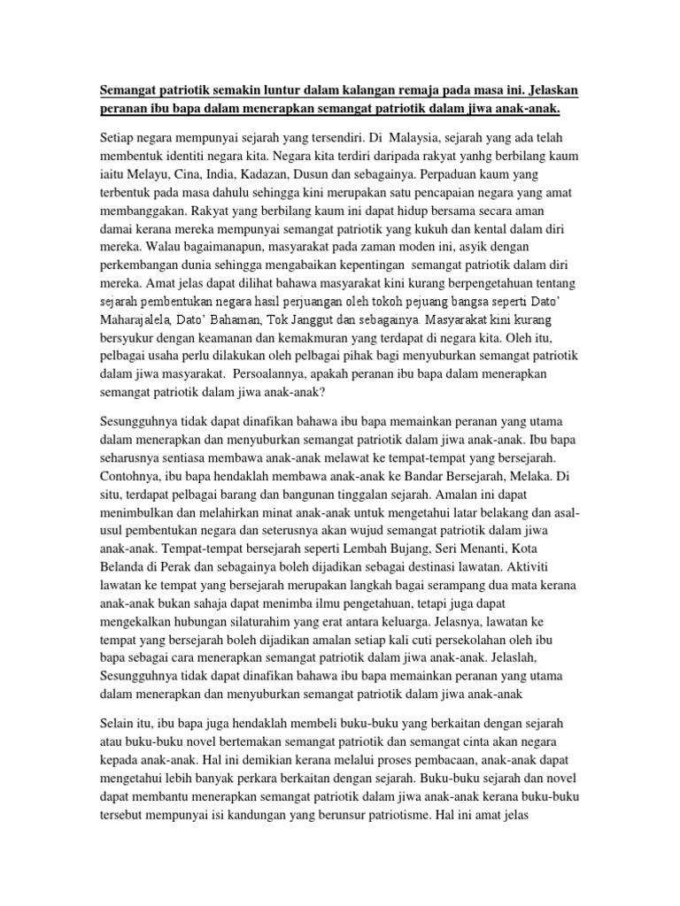 essay tentang nasionalisme dan patriotisme