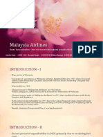 Malaysia Airlines PPM Assignment 1