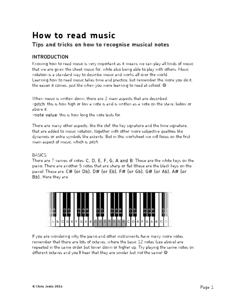 How To Read Music An More Advanced Guide Musical Notation Clef