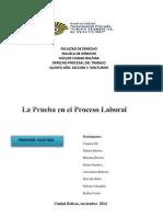 Objeto de la Prueba en Derecho Laboral