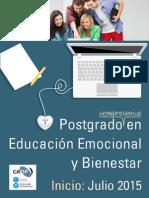 Postgrado en Educación Emocional y Bienestar semipresencial