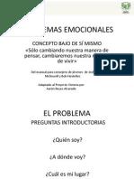 PROBLEMAS EMOCIONALES Bajo Concepto de Si Mismo