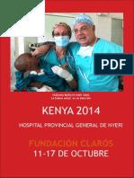 Viaje Humanitario Kenya 2014 realizado por Fundación Clarós