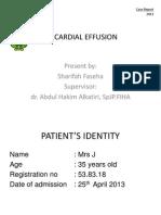 Pericardial Effusion Pericardial EffusionPericardial EffusionPericardial EffusionPericardial EffusionPericardial EffusionPericardial EffusionPericardial Effusion