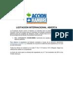 ACF-COLOMBIA (LICITACIÓN INTERNACIONAL ABIERTA 2014).EXP CO-BO-00696 Suministro de Casetas Sanitarias y Sistemas Sépticos Plásticos.Fecha cierre para la solicitud 17 NOV 14 15:00h (3:00 pm hora de Colombia)