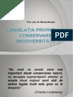 Legislaţia Privind Conservarea Biodiversităţii