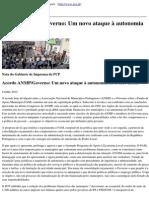 Partido Comunista Portugues - Acordo Anmpgoverno Um Novo Ataque a Autonomia Do Poder Local - 2014-07-09