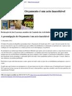 Partido Comunista Portugues - A Promulgacao Do Orcamento e Um Acto Inaceitavel - 2012-12-31