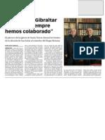141105 La Verdad CG-Azzopardi. 'Gibraltar y La Línea Siempre Hemos Colaborado' p. 9