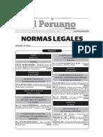 20141014-Normas Legales Del Dia Lunes 13 de Octubre Del 2014