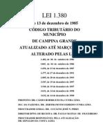 Código Tributário Municipal - Campina Grande - Atualizado Março de 2000