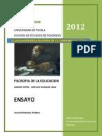 Ensayo de Filosofia Emilio 2012