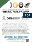 Whistleblower wallet card  in Spanish