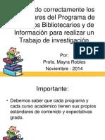estandares bib 8 y proyecto web