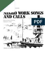negro work songs