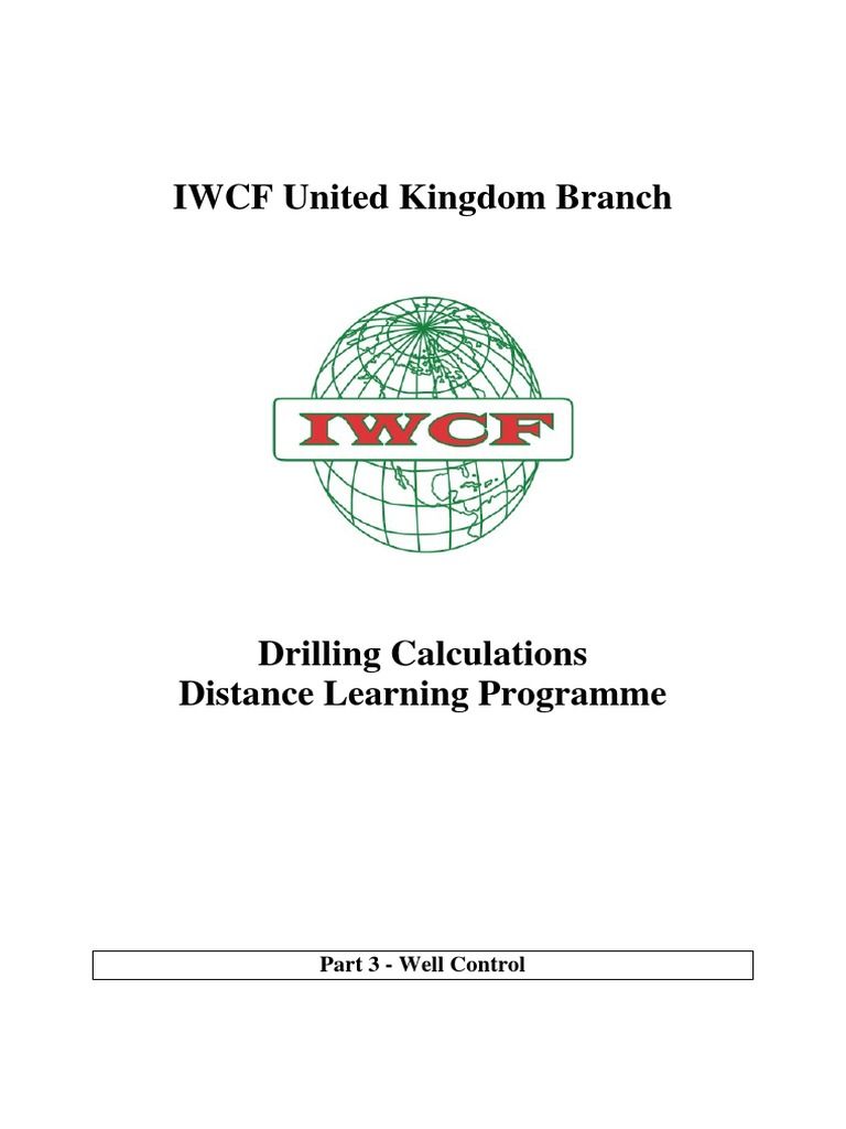 iwcf well control course chapter 3 porosity pressure rh scribd com iwcf well control manual free download IWCF Conference