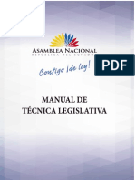 Asamblea Nacional Ecuador Manual Tecnica Legislativa