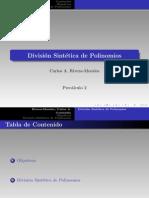 División de Polinomios y División Sintética - 02