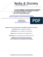 Web based information credibility