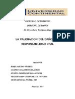 Monografia de La Valoracion Del Daño