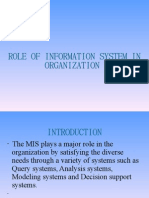 Role of Information System