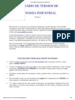 Glossário de Termos Econômicos