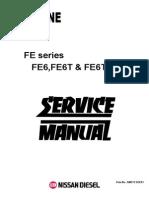 Servic d r Motor Nissan Fe6 Fe6t Fe6ta