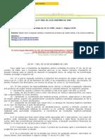 Lei 7.889 de 1989 - Dispõe Sobre a Inspeção Sanitária e Industrial Dos Produtos de Origem Animal