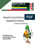 Adecuación a La Ley de Personas Con Discapacidad en La Empresa