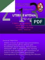 "Grand Case"" uterine myoma"""