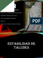 Luis Rosales -Estabilidad de Taludes