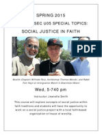 REL 4937 Faith in Social Justice - Spring 2015