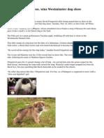 Malachy, a Pekingese, wins Westminster dog show