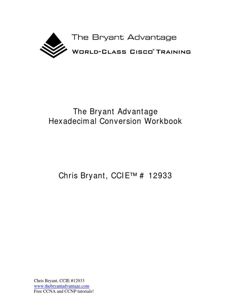 Workbooks ccie workbook : Hexadecimal Conversion Workbook | Naming Conventions ...