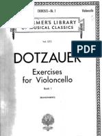 Dotzauer - exercises for violoncello book I
