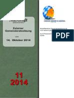Eslarner Gemeinderatssitzungen - 14.10.2014