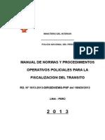 Manual Operativos Fiscalizacion Del Transito
