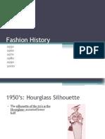 fashion history 1950 to 2000