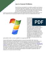 Microsoft Access Dans Le Courant D'Affaires