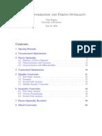 Notes on Optimization and Pareto Optimality