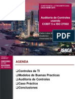 Auditoría de Controles usando COBIT 5 e ISO 27002