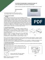 Termostat Wireless Euroster 2006 TX Fisa Tehnica