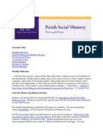 November 2014 Catholic Charities USA Parish Social Ministry Newsletter