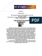 The Secret of Light Newsletter - April 2012