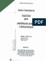Cálculo para la administración, economía y ciencias sociales. (Schaum)
