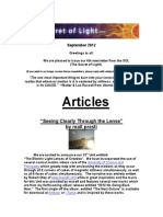 The Secret of Light Newsletter - September 2012