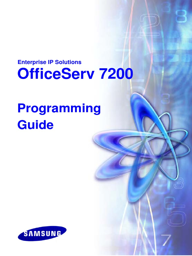 Officeserv 7200 Programming Guide   Voice Over Ip   Wireless Lan