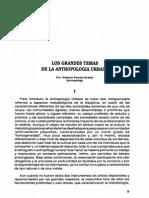 Los Grandes Temas de La Antropología Urbana