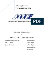 (381576305) a Training Report On Recent Extrusion processes