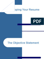 Developing Your Resume